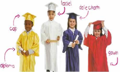 cap and gowns pre school kindergarten